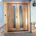 Exotic Hardwood Exterior Door Casings Installation and Staining