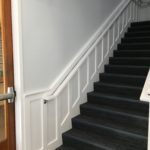 Staircase Paneling and Handrail Installation