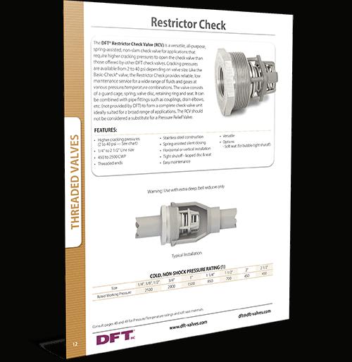 RCV® Restrictor Check
