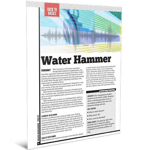 Valve World Feature: Water Hammer
