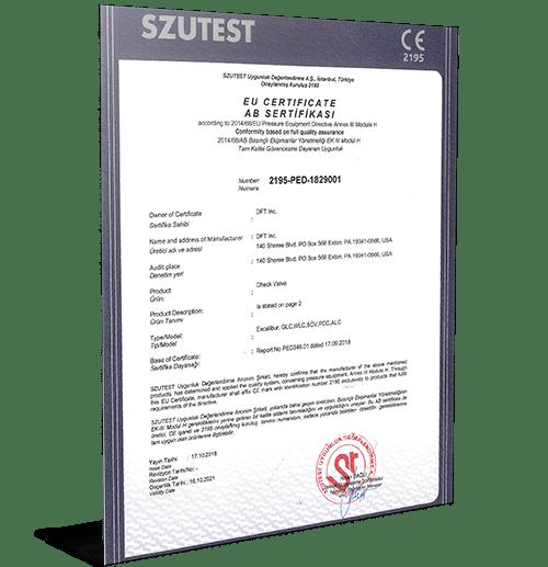 PED Module H Certificate