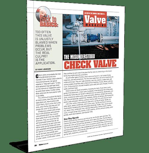 Check Valve Back to Basics Article