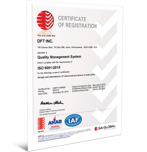 ISO 9001:2015 Certificate - English