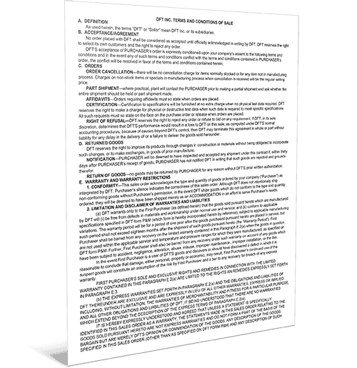 DFT Terms & Conditions
