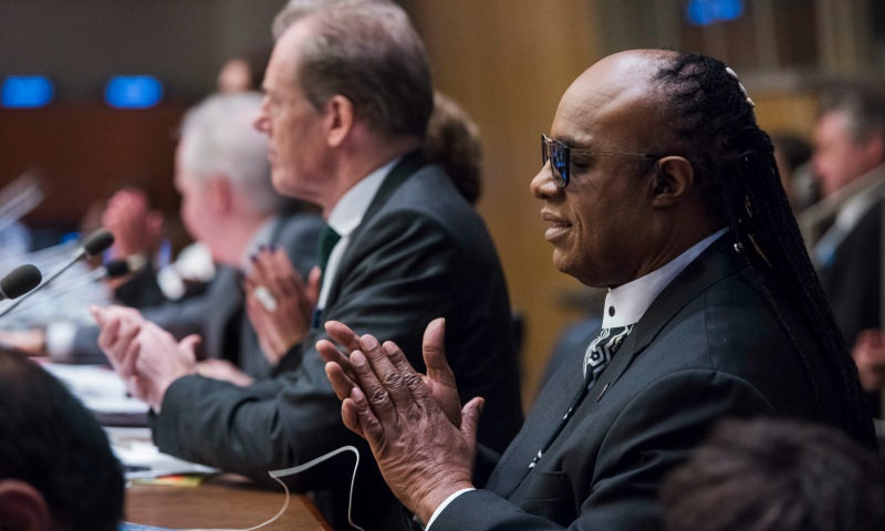 Stevie Wonder with the Perfect Pitch on International Day for Persons with Disabilities