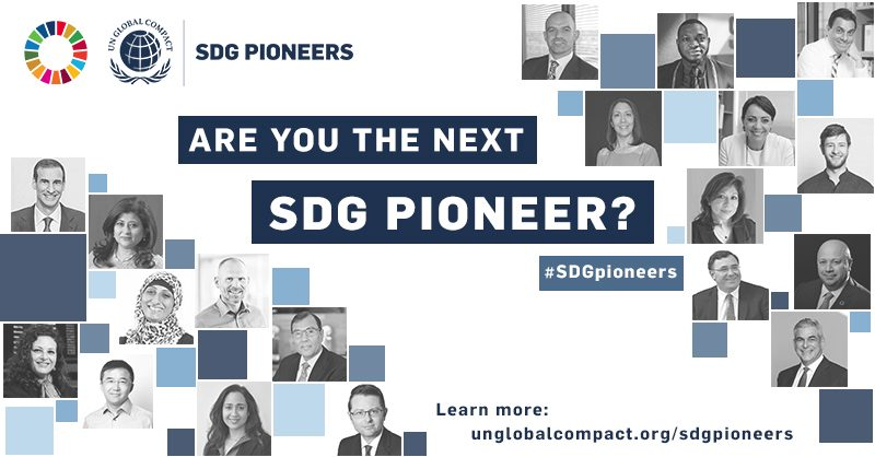 Are you the next SDG Pioneer?