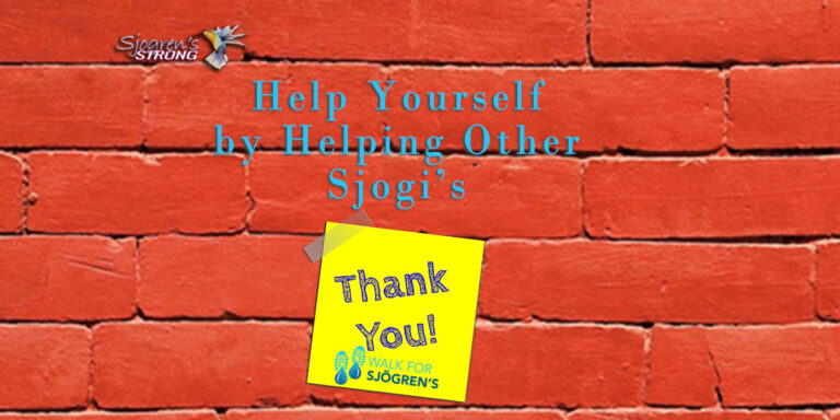 Help Yourself by Helping other Sjogi's