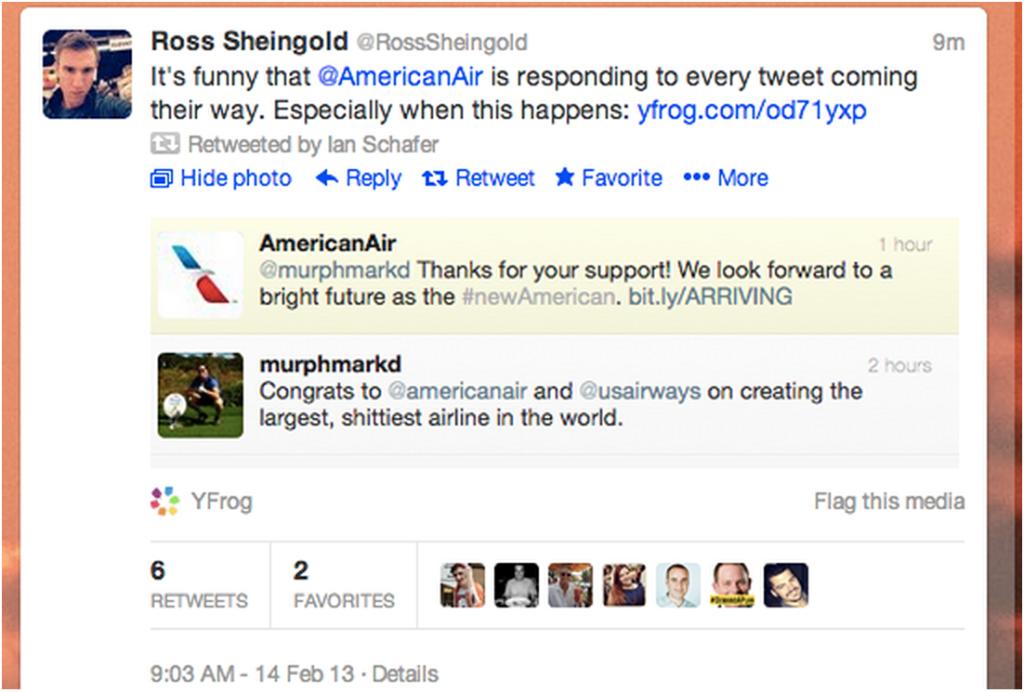 social media fail american airlines