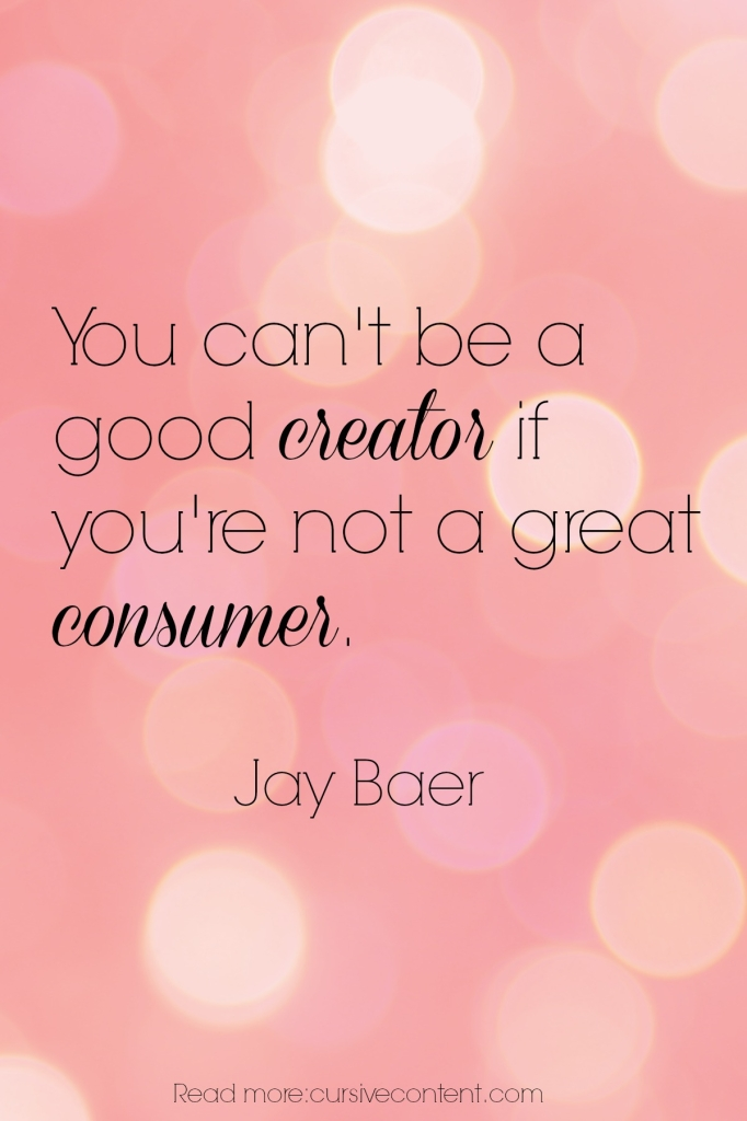 jay baer content marketing quote cursive