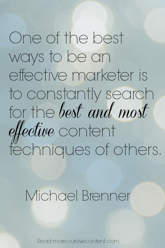 michael brenner content marketing quote cursive