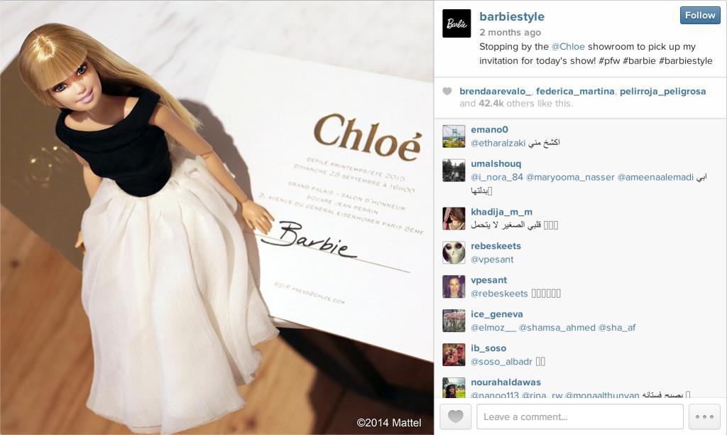 barbie style instagram