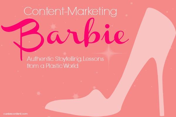 content marketing barbie - cursive content marketing