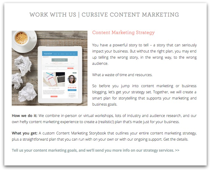 Cursive Content Marketing Work With Us
