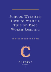 School Websites: How to Write a Tuition Page Worth Reading