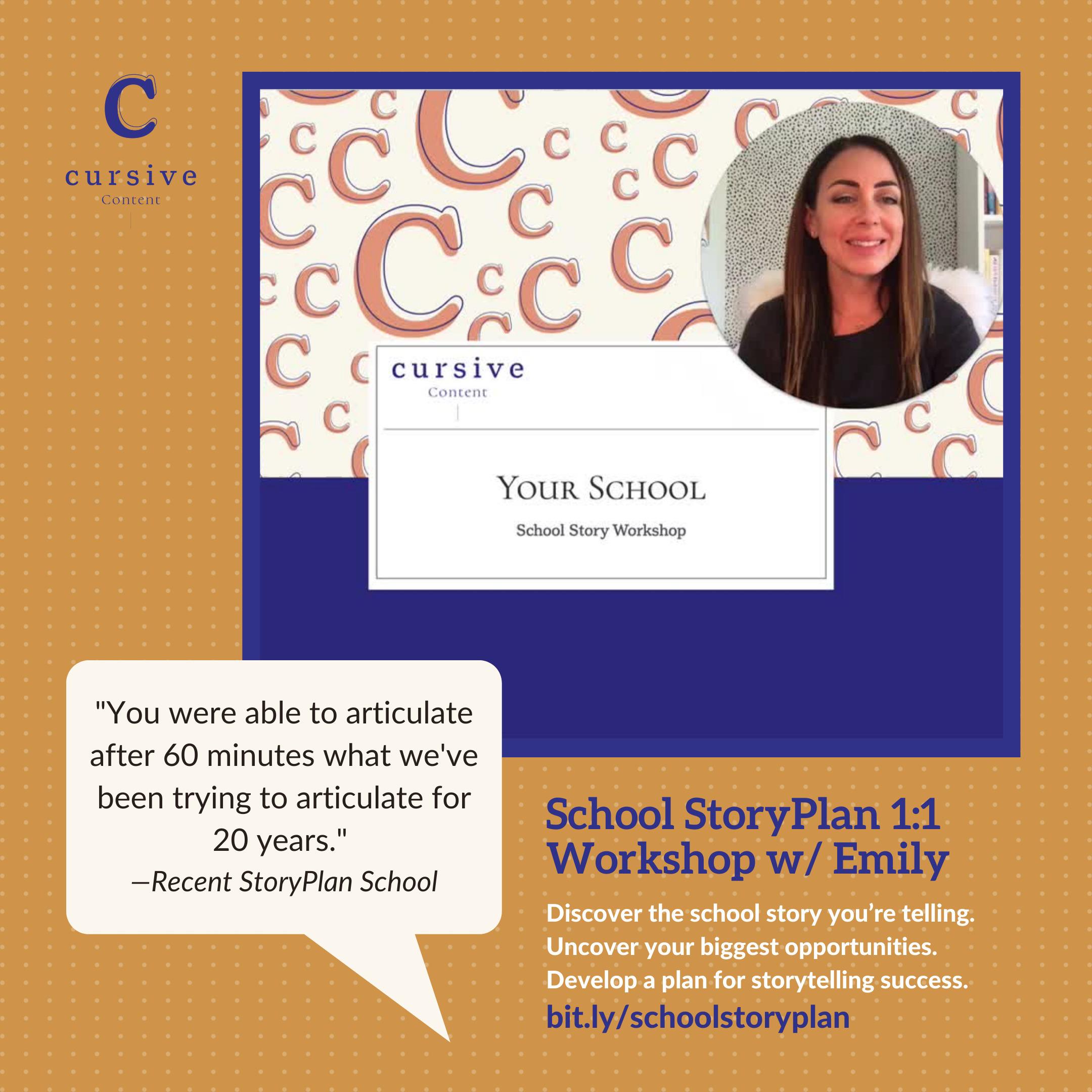 School StoryPlan Workshop