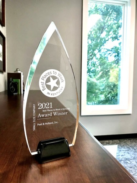 2021 #1 Best Places to Work in Kentucky award