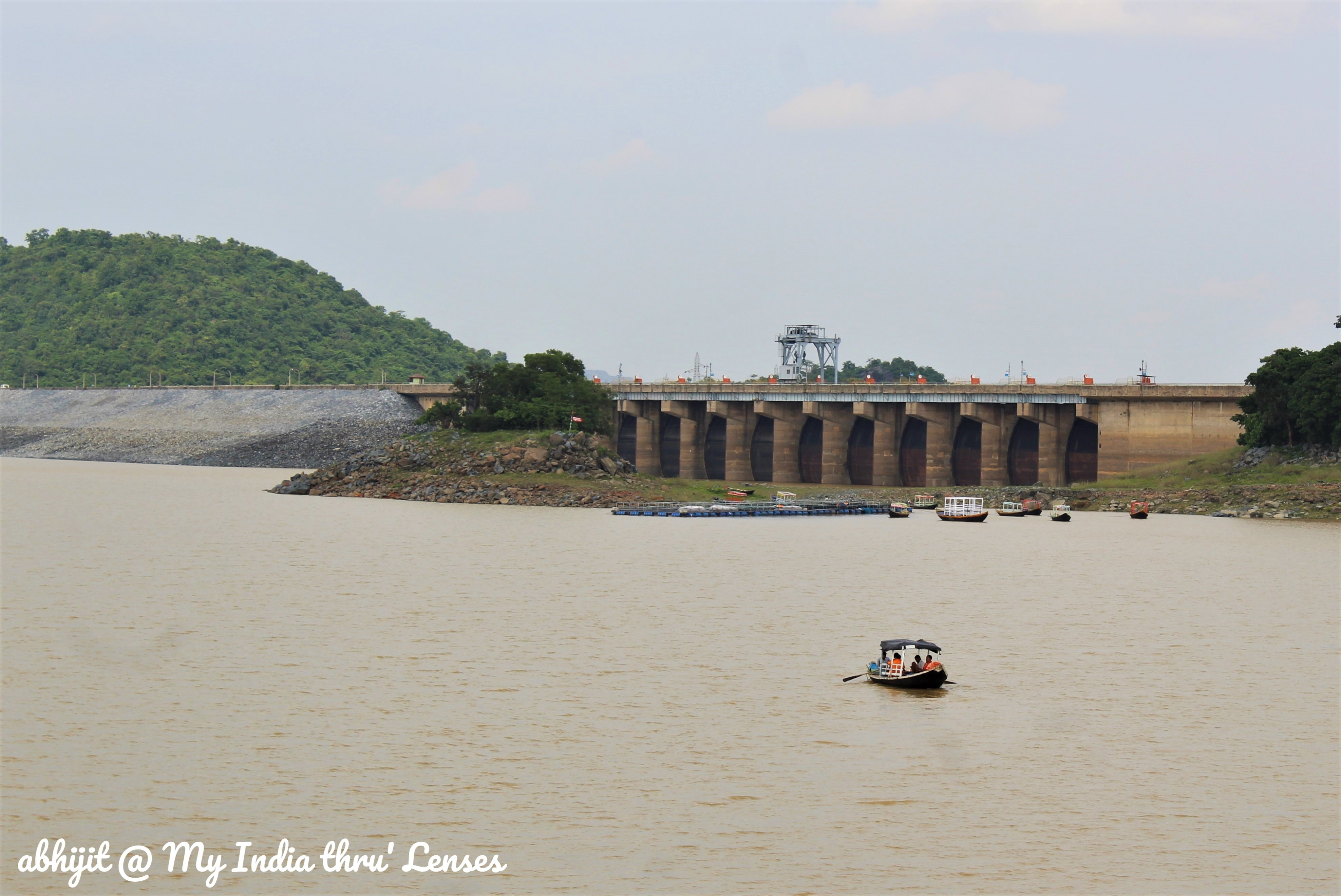 Maithon Dam - View of the  Lock Gates from the upstream side