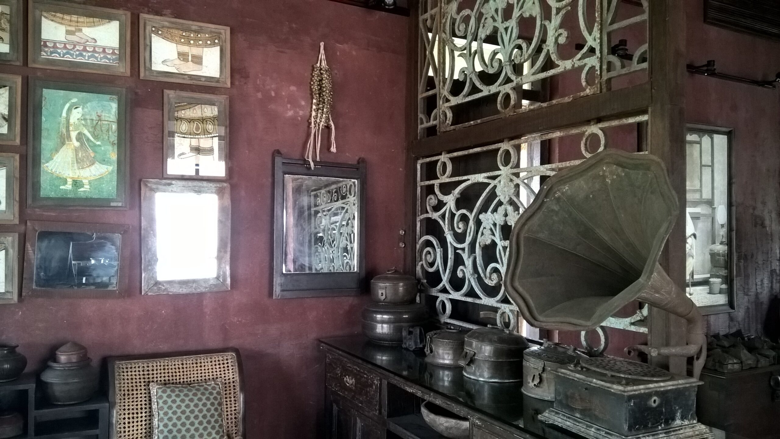 Collection of Antiques displayed at various places