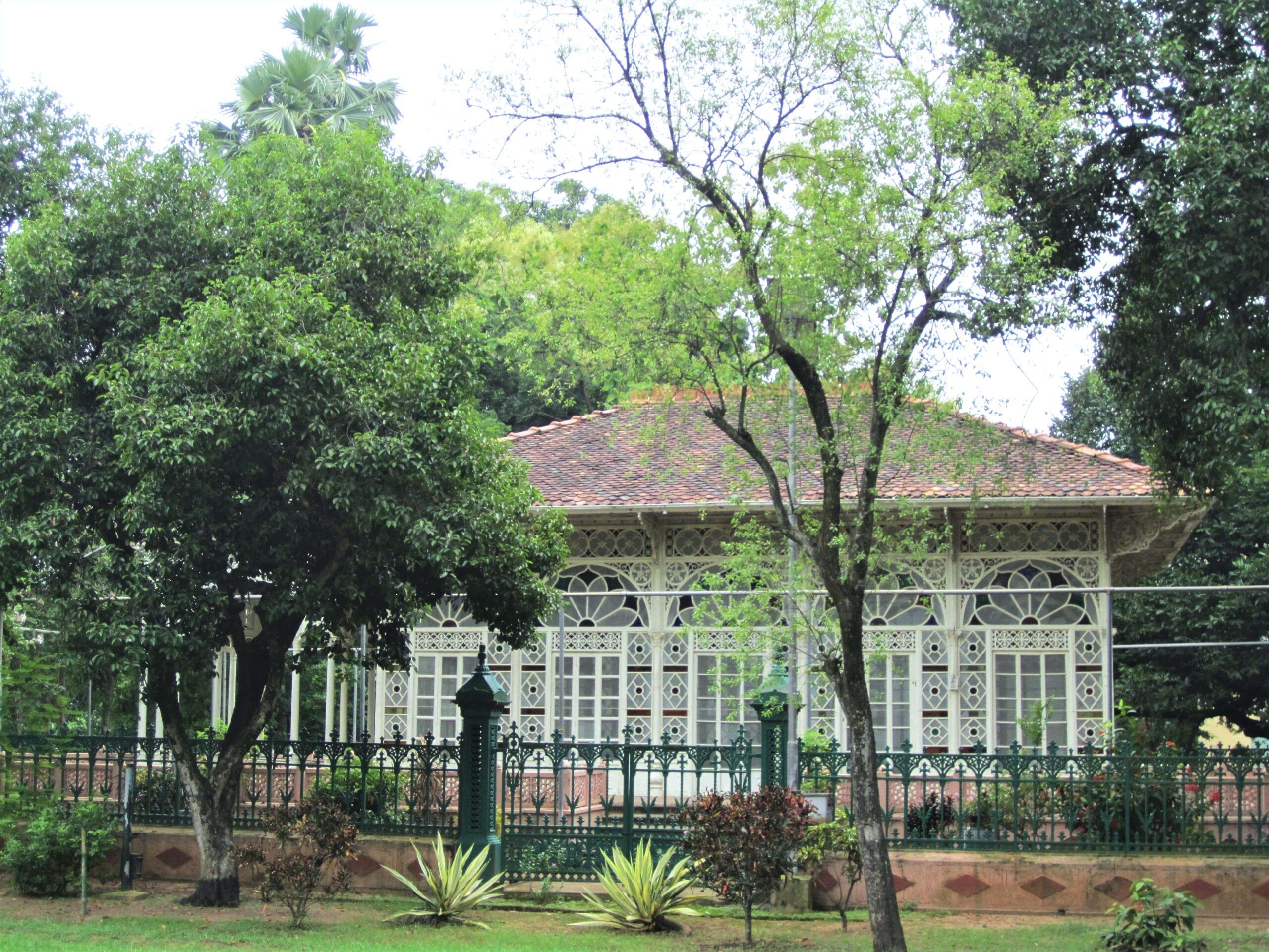 The Famous Glass House or Upasana Griha within Vishva Bharati University Complex