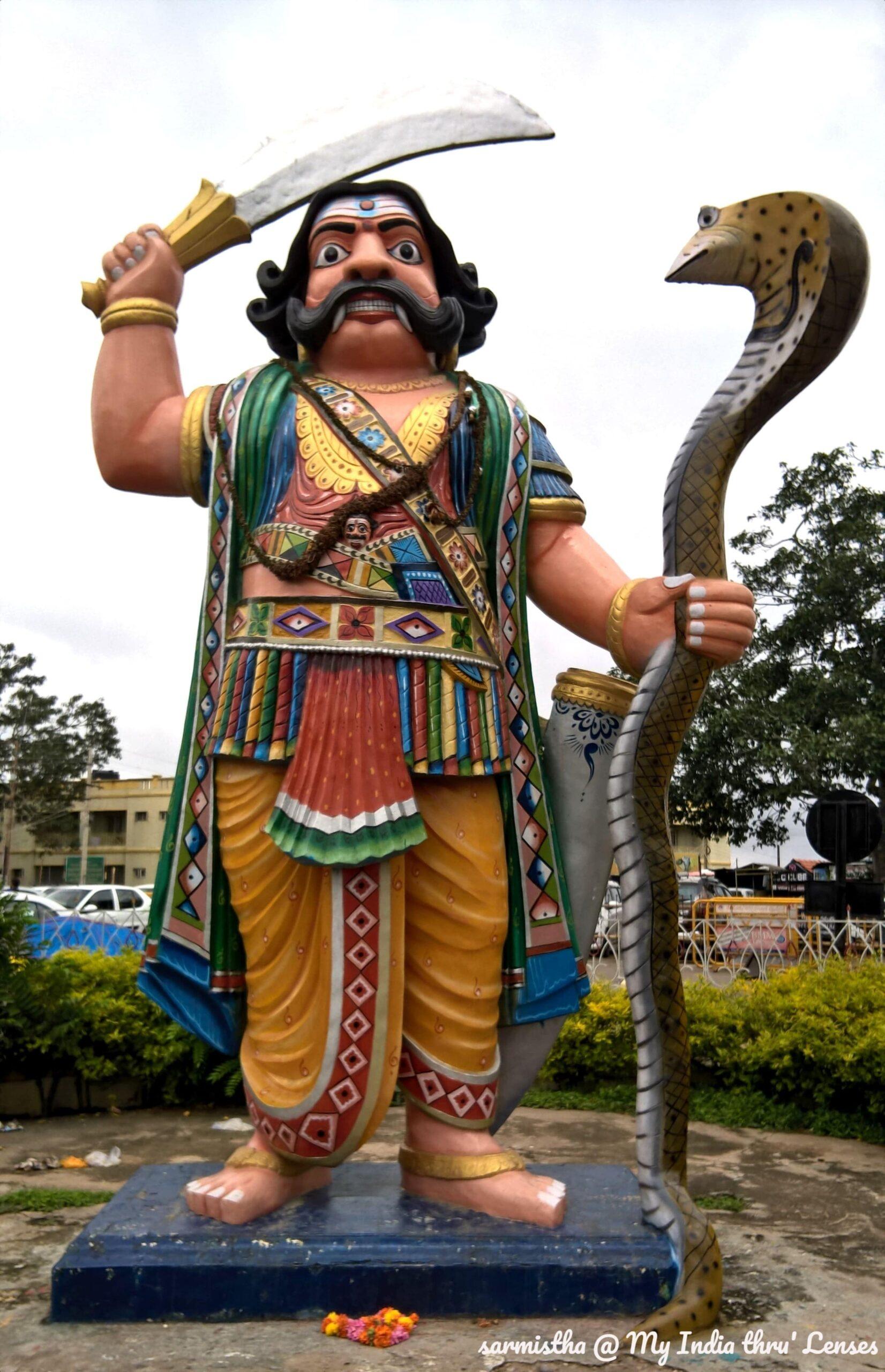 Statue of Mahishasura at Chamundi Hills, Mysore