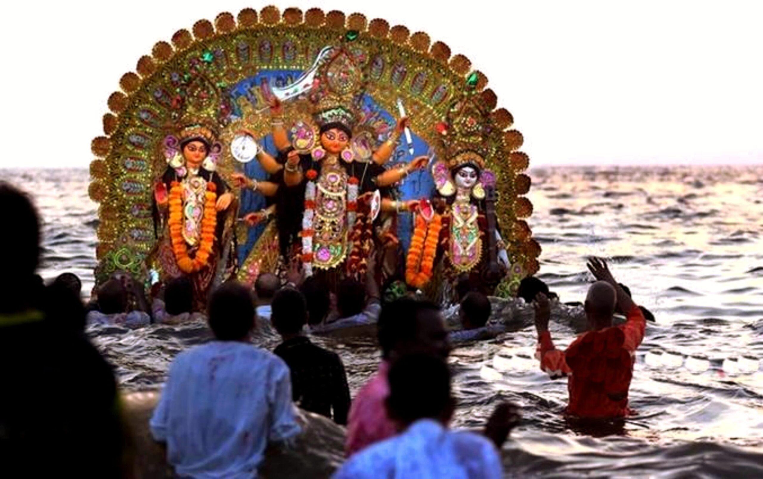 Bhasan - Immersion of Durga idol | PC - Indian Express