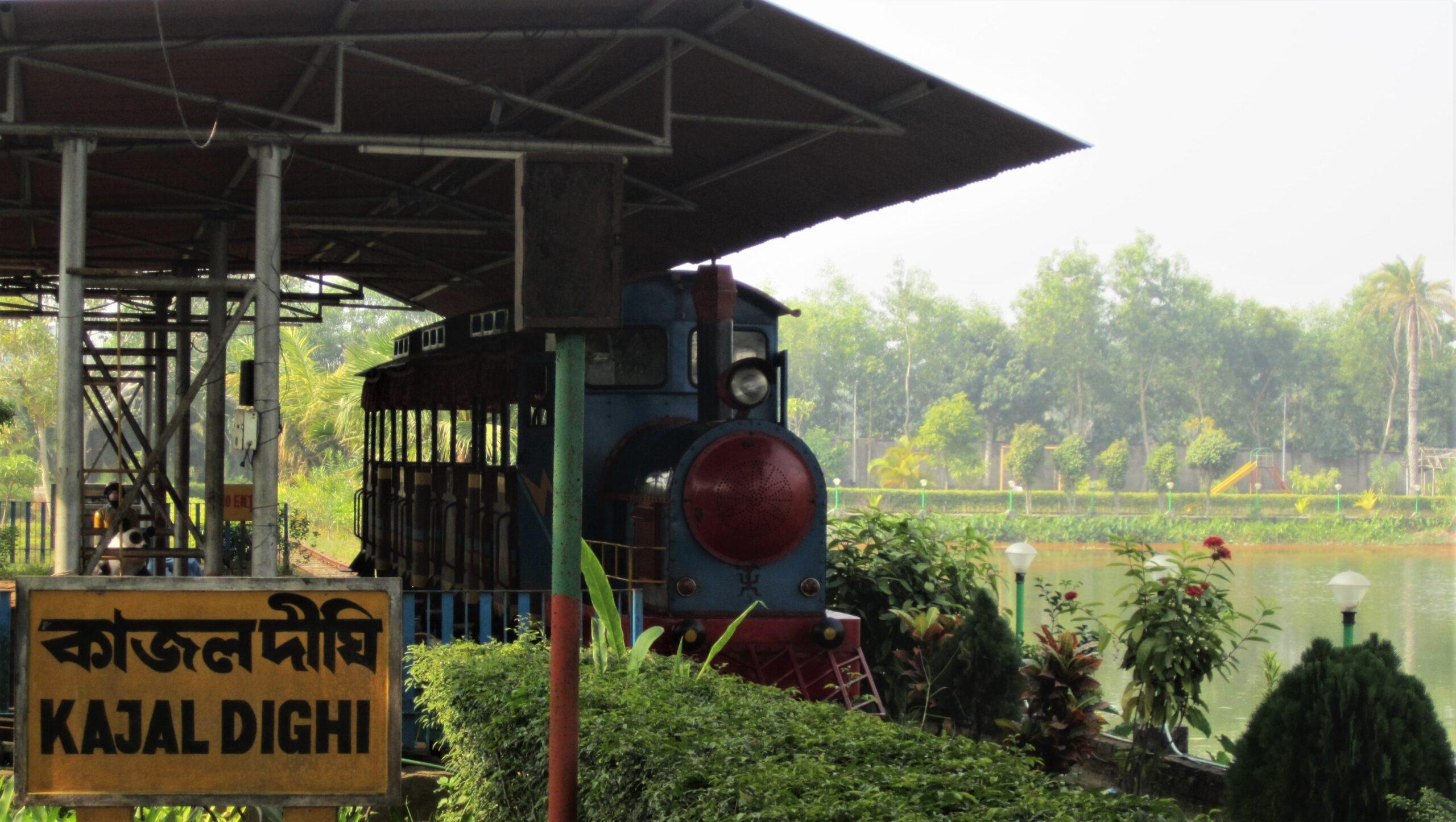 Toy train at Kajaldighi Park