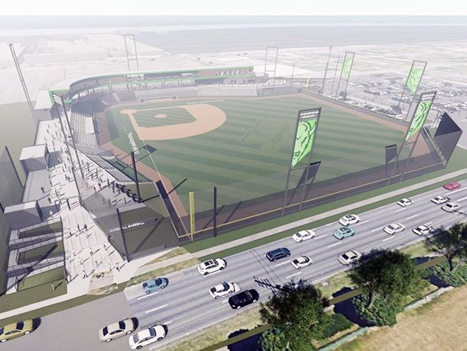 Rendering of new Marshall baseball stadium