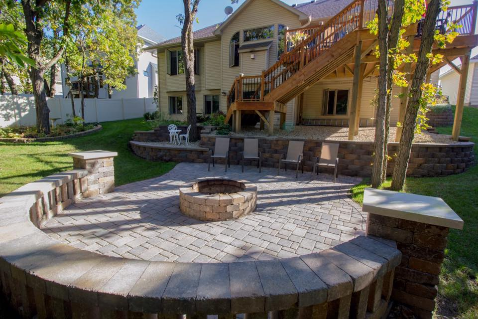 paver patio and landscaping Nowthen