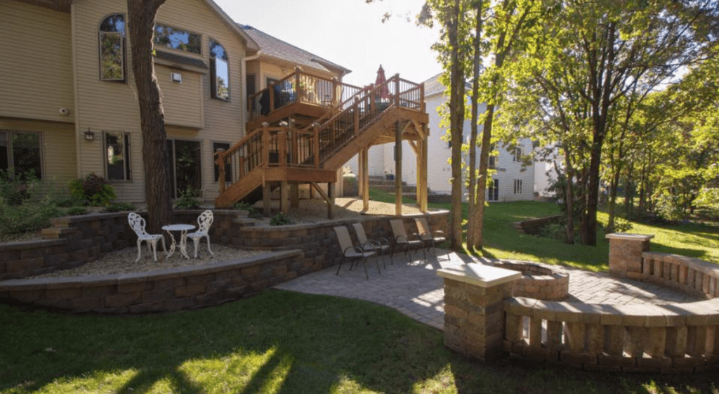 north metro landscaping and paver patio project