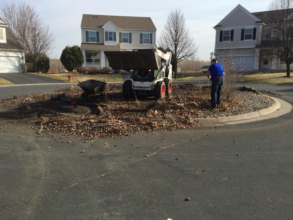 before a commercial landscaping project