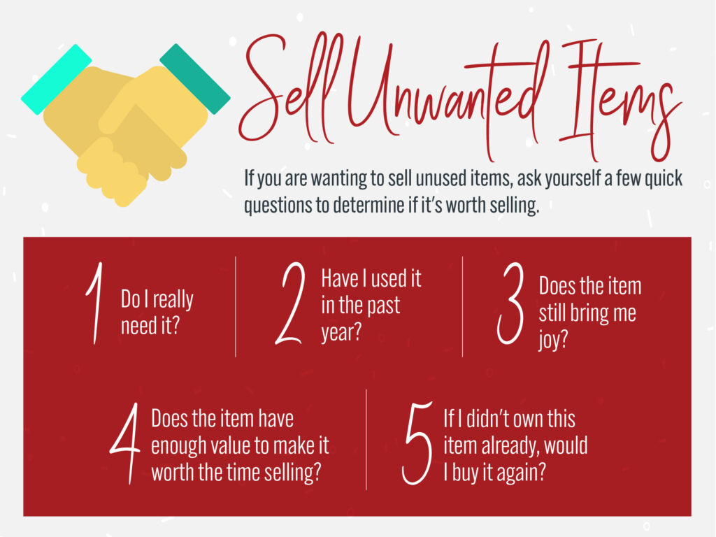 Home Budget Tip #3: Sell Items You No Longer Use