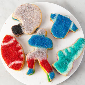 My Most Favorite Food Football Sugar Cookie Assortment3
