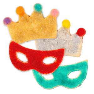 My Most Favorite Food Large Mask Crown Sugar Cookie