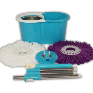 Blue Mop and Bucket
