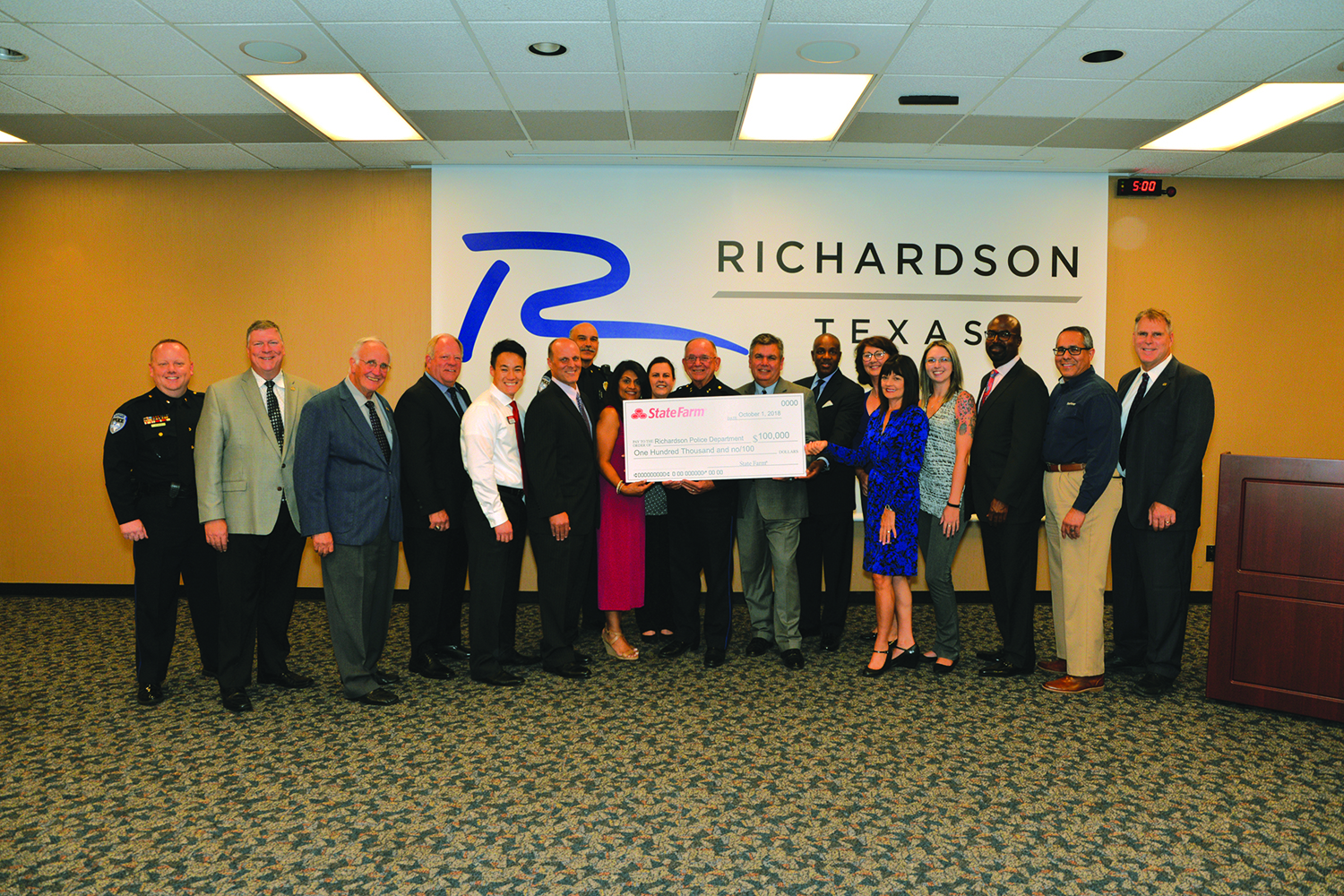 State Farm presents $100K grant to Richardson Police Department