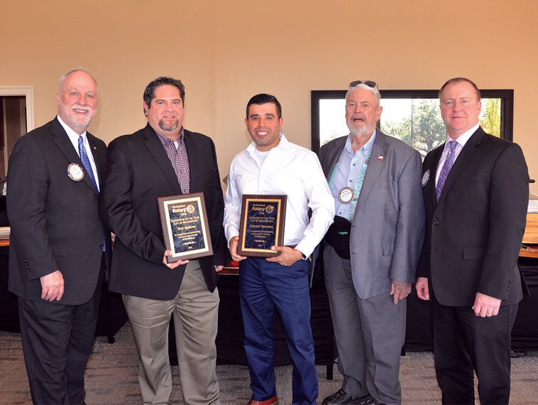 Rotary Club presents City employee awards