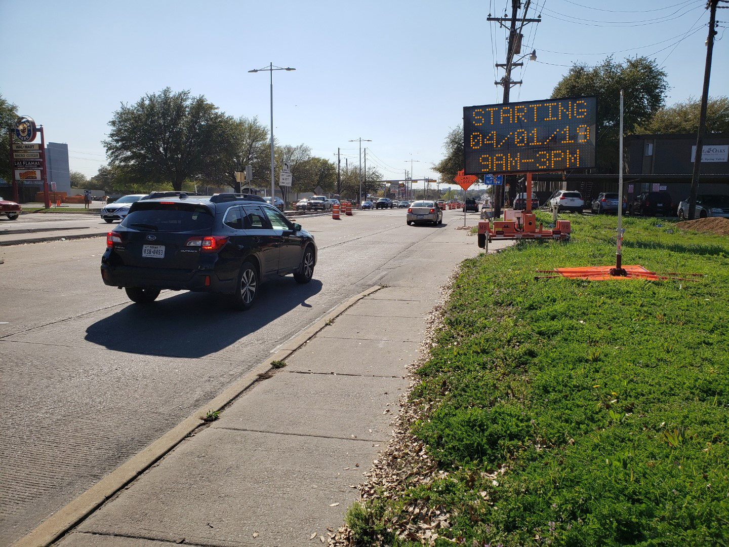 Various lane closures expected along Spring Valley Road