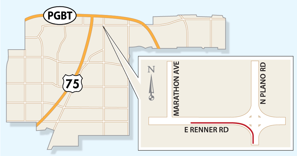 Portion of Renner Road to Close Intermittently until end of May