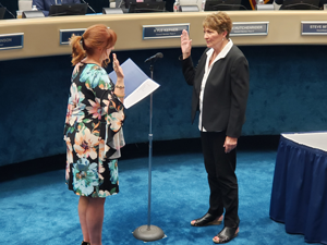 Election Results Canvassed; New City Council Member Takes Oath of Office