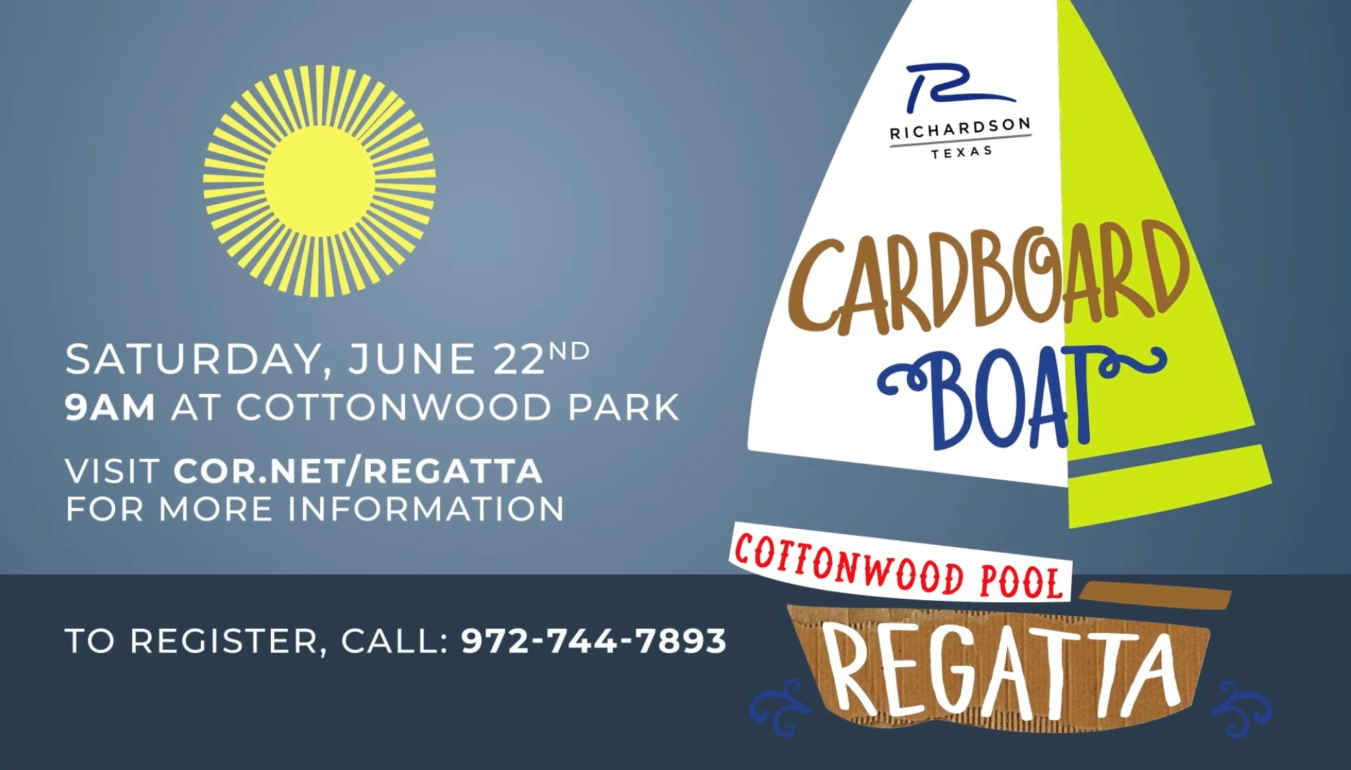 Annual Cardboard Boat Regatta taking place this Saturday