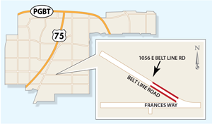 Portion of Belt Line Road May be Closed