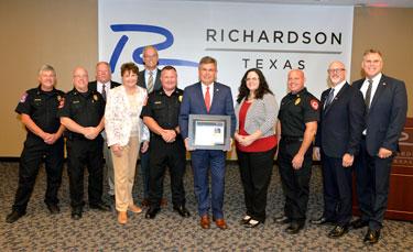 AHA Presents Lifeline Awards to Richardson Fire Department