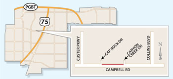 Campbell Road Lane Closures Expected Nights, Weekends
