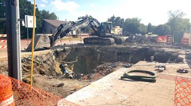 Construction Work Begins on Main Street Redevelopment/Reinvestment Project