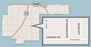 Lane Closure Expected on Arapaho Road Near Jupiter Road