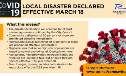 City of Richardson Issues Declaration of Local Disaster For Public Health Emergency