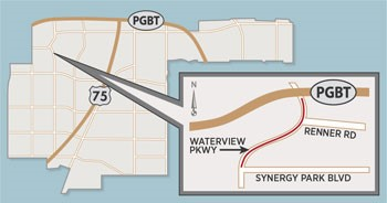 Design Survey Work for DART Silver Line Project May Temporarily Close Lanes on Waterview Parkway