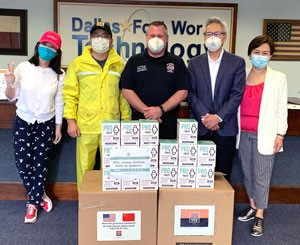 Fire Department Receives Donation of Masks