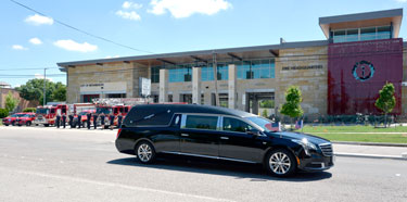 Richardson Police and Fire Departments Pay Respects to Sam Johnson