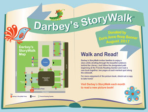 "Darbey's StoryWalk® Features Shade, ""Goats"""